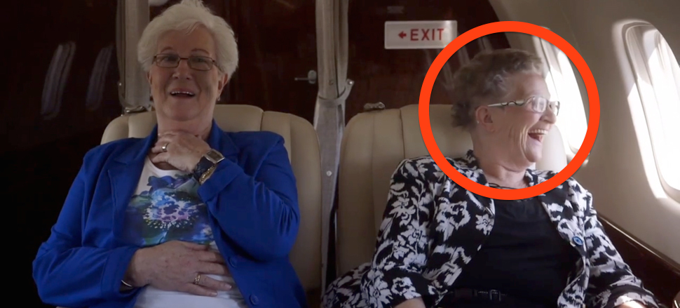 These Two Grandmas Have Never Gone Flying Until NOW. Their Reaction Is Priceless…