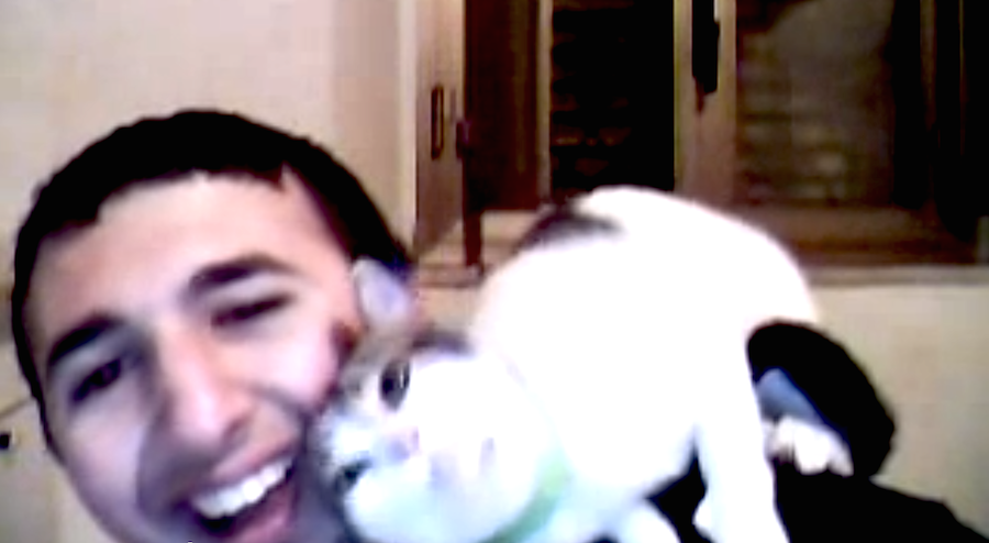 This Cat Has A Huge Crush On A Guy, And It's Even More Adorable Then It Sounds.  Cuteness Overload!