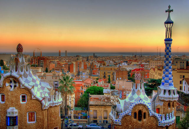 beautiful-sunset-Barcelona
