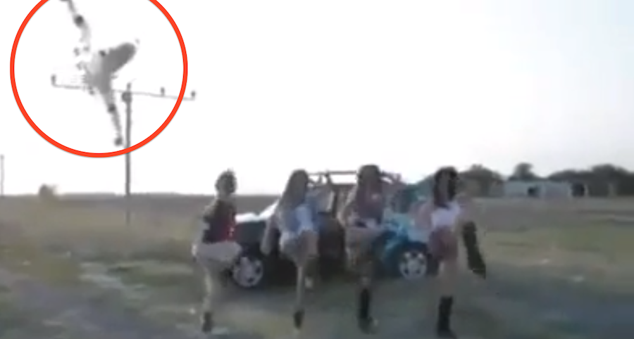 These Girls Were Just Dancing, But Then They Saw A Plane And THIS happened. Unbelievable…