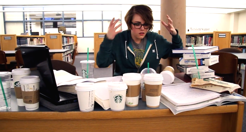 Hilarious Mini-Musical 'FROZEN' Parody Sums Up A Students Life.  Do You Want To Go To Starbucks?