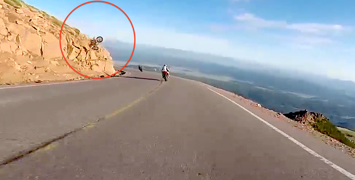 He Was Just Riding His Motorcycle, But Then Something Unexpected Was Caught On Camera…