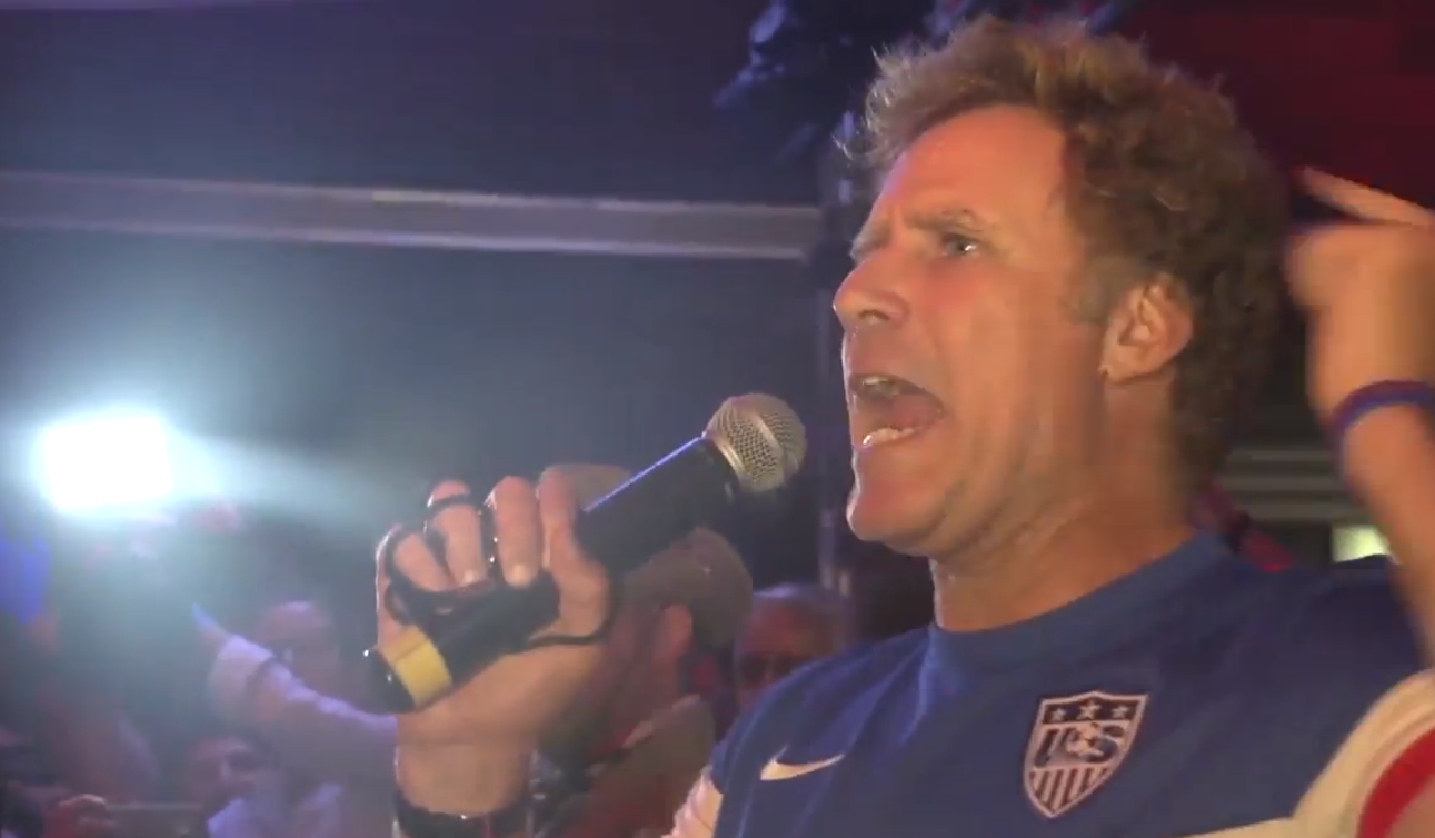"Will Ferrell Paid A Halarious Surprise Visit: ""If The Game Gets Close, I WILL BIT EVERY GERMAN PLAYER"""