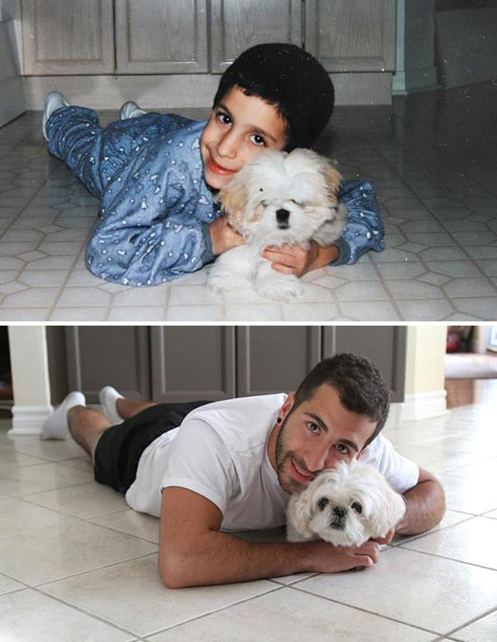 before-and-after-childhood-puppy
