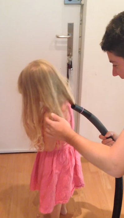 Leave It To Dad To Fix His Daughter's Hair In 17 Seconds! Can't Believe He Did This…