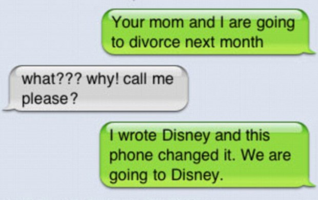 Image of: Dad Funnyparenttextsdisney Astoundable 27 Funniest Texts Parents Have Sent Their Childrenu2026you Will Love