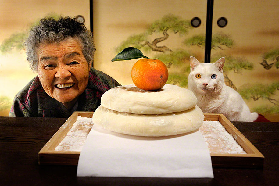 japanese-grandma-and-cat-finished-bread