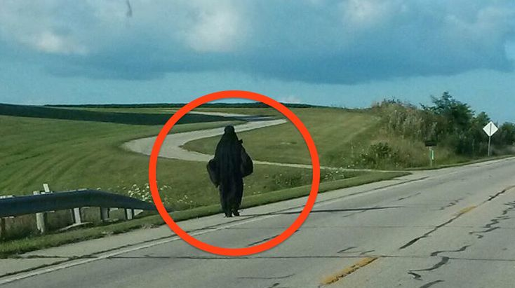 "Mysterious ""Woman In Black"" Takes A Journey, Goes Viral Online…What Is She Doing?"
