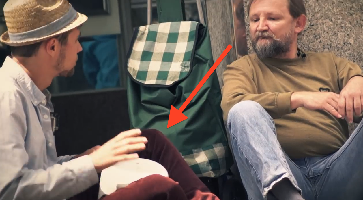 This Young Man Borrows A Homeless Man's Bucket; What He Does With It Will Make You Cry…