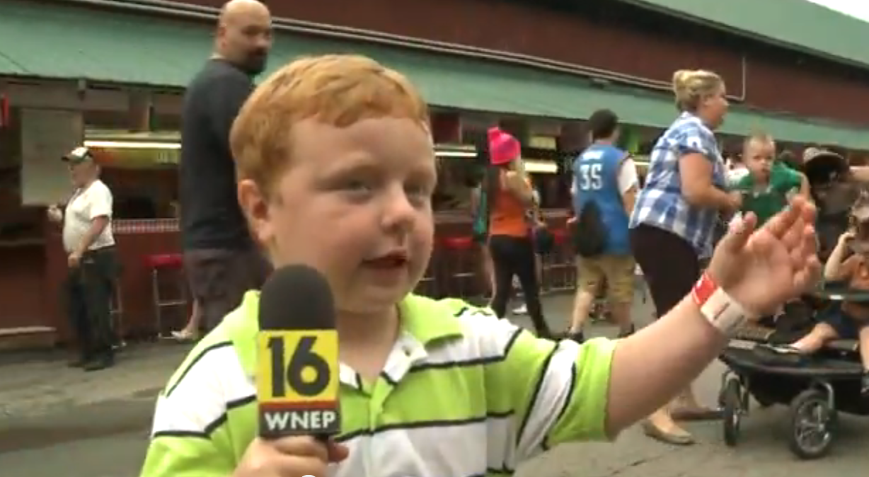 """Apparently"" This Kid Is Awesome Because He Steals The Show When Interviewed…This'll Make You Smile"