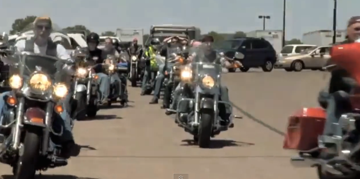 Huge Biker Gang Pulls Up To A Child's Home And Does Something That's Hard To Forget
