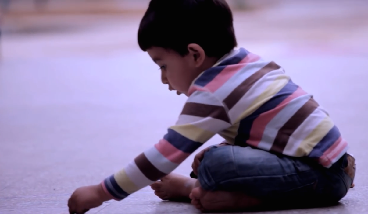 A Little Boy Finds Chalk And Draws Something On The Floor. You'll Be In Tears When You See What It Is…