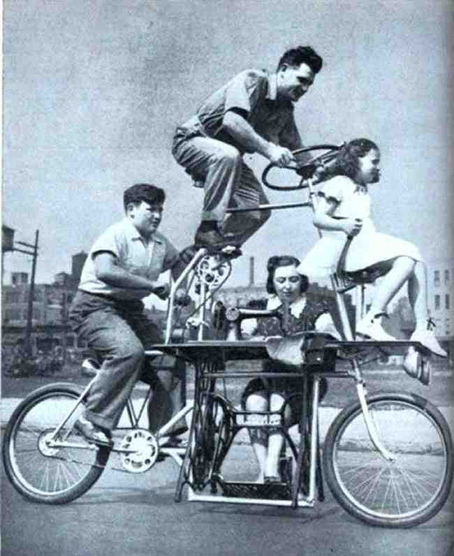 family-bicycle-sewing-machine