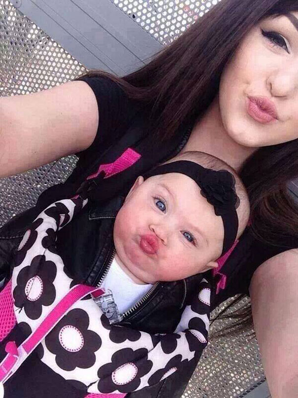 mommy-and-me-similar-duck-face