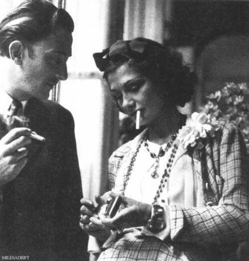 salvador-dali-coco-chanel-smoking