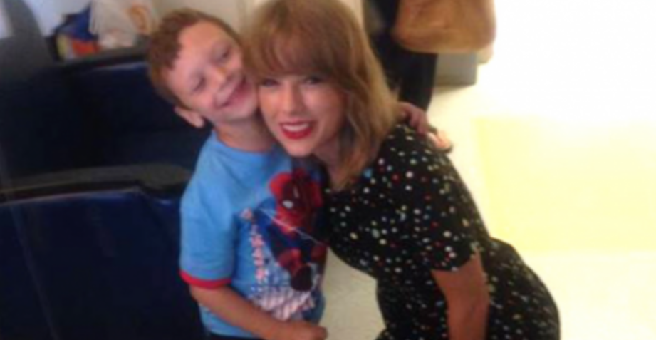 Little Boy's Dream Comes True When Taylor Swift Sings Him His Favorite Song, You've Gotta See His Smile!